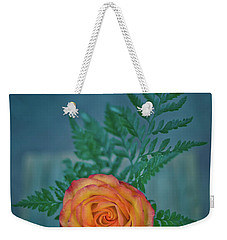 Orange In Blue Weekender Tote Bag