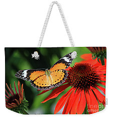 Orange Lacewing Weekender Tote Bag