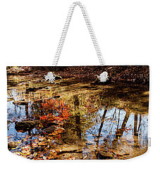 Weekender Tote Bag featuring the photograph Orange Leaves by Iris Greenwell