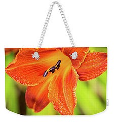 Orange Lilly Of The Morning Weekender Tote Bag