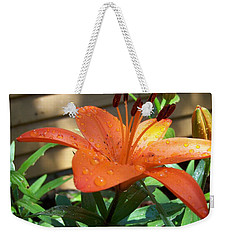 Weekender Tote Bag featuring the photograph Orange Lilly by Richard Ricci
