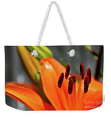 Orange Lily Close Up Weekender Tote Bag