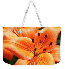 Orange Lily Joy Weekender Tote Bag