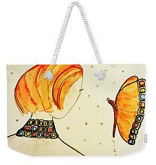 Orange Match Weekender Tote Bag