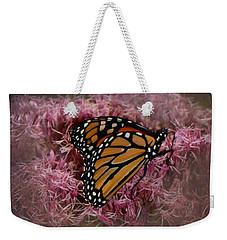 Orange Monarch Weekender Tote Bag