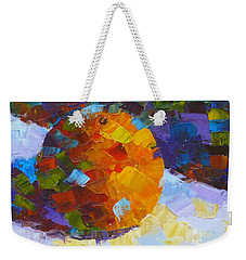 Orange Mosaic #3 Weekender Tote Bag