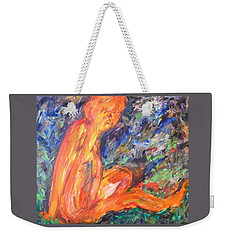 Orange Nymph Weekender Tote Bag by Esther Newman-Cohen