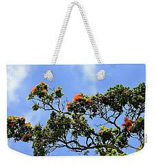 Orange Lehua On A Ranch In Volcano, Hawaii  Weekender Tote Bag
