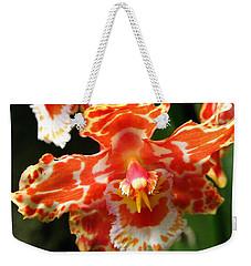 Orange Orchid Weekender Tote Bag