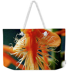 Fringed Orange Orchid Weekender Tote Bag