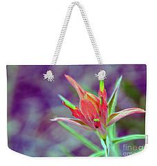 Orange Paintbrush Flower Weekender Tote Bag