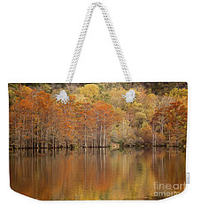 Weekender Tote Bag featuring the photograph Orange Pool by Iris Greenwell