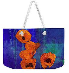 Orange Poppies Weekender Tote Bag by I'ina Van Lawick