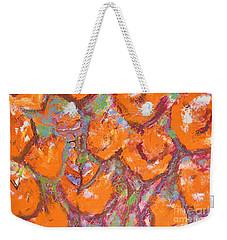 Orange Poppies Weekender Tote Bag by Gallery Messina