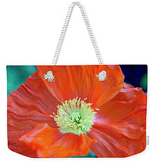 Weekender Tote Bag featuring the photograph Orange Poppy Flower by Haleh Mahbod
