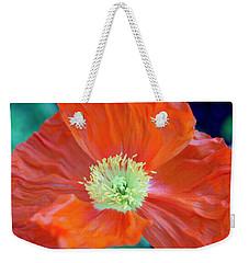 Orange Poppy Flower Weekender Tote Bag by Haleh Mahbod