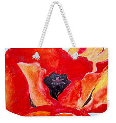 Orange Poppy Weekender Tote Bag by Jamie Frier