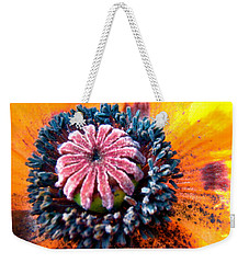 Weekender Tote Bag featuring the photograph Orange Poppy by Stephanie Moore