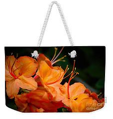 Orange Rhododendron Crush Weekender Tote Bag