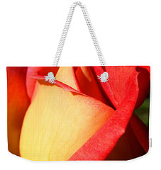 Orange Rosebud Weekender Tote Bag by Ralph A  Ledergerber-Photography