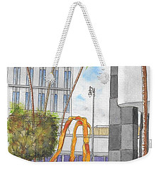 The Inconscious, Sculpture By Franz West In Beverly Hills, California Weekender Tote Bag