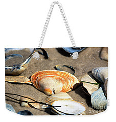 Orange Seashell Weekender Tote Bag