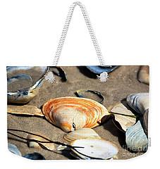 Orange Seashell Weekender Tote Bag