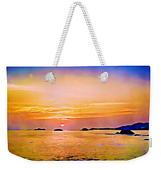 Orange Sky In Ixtapa, Mexico Weekender Tote Bag