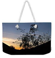 Orange Sky Nature Silhouette Weekender Tote Bag