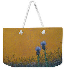 Orange Sky With Thistle Weekender Tote Bag