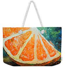 Orange Slice Weekender Tote Bag