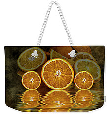 Orange Slices Weekender Tote Bag by Shirley Mangini