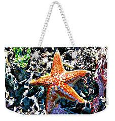Orange Starfish Weekender Tote Bag
