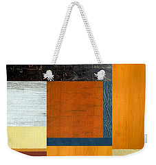 Orange Study With Compliments 2.0 Weekender Tote Bag by Michelle Calkins