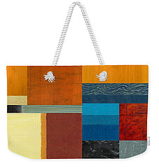 Orange Study With Compliments 3.0 Weekender Tote Bag by Michelle Calkins