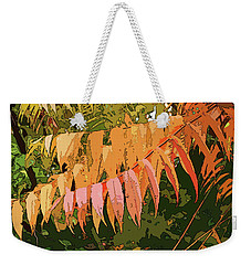 Weekender Tote Bag featuring the photograph Orange Sumac by Betsy Zimmerli