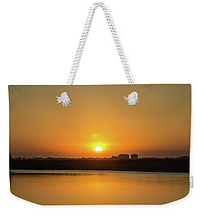 Orange Sunrise Weekender Tote Bag by Nance Larson