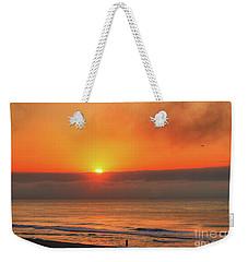 Orange Sunrise On Long Beach Island Weekender Tote Bag