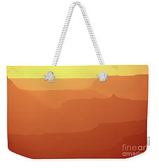 Orange Sunset At Grand Canyon Weekender Tote Bag by RicardMN Photography