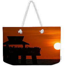 Orange Sunset In Naples Weekender Tote Bag