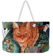 Orange Tabby Weekender Tote Bag