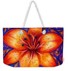 Orange Tiger Lily Drawing Weekender Tote Bag