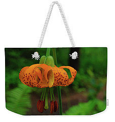Weekender Tote Bag featuring the photograph Orange Tiger Lily by Tikvah's Hope