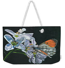 Orange Tip  Weekender Tote Bag