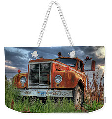 Orange Truck Weekender Tote Bag