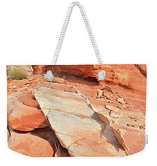 Orange Valley In Valley Of Fire Weekender Tote Bag by Ray Mathis