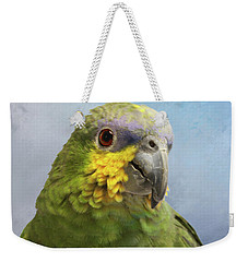 Orange Wing Amazon Parrot Weekender Tote Bag by Victoria Harrington