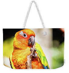 Orange Yellow Parakeet Weekender Tote Bag