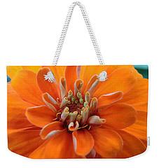 Orange Zinna Weekender Tote Bag