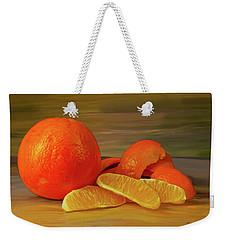 Oranges 01 Weekender Tote Bag by Wally Hampton